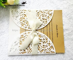 HK9 Wholesale Indian Wedding favors laser cut hollow Invitation card, marriage supplies