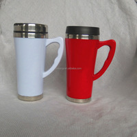 Promotional Stainless Steel and plastic coffee thermos travel mug