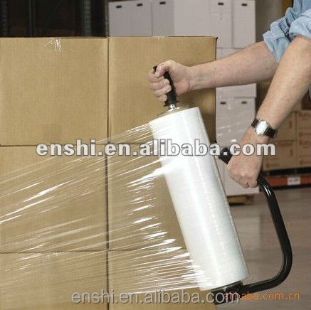 Extensible LLDPE stretch film for machine&hand use pallet packing