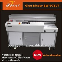 BOWAY 976V7 A3 length 60mm thickness hot glue perfect binding factory price machine
