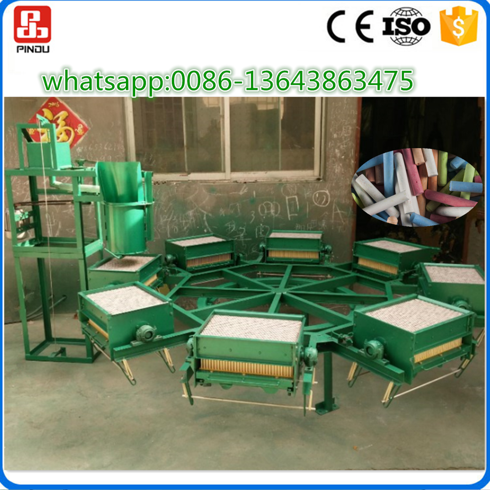 automatic dustless color school chalk making machine