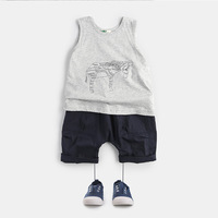 Creative children vest in the summer of 2016 the new children's clothing embroidery pony vest