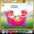 Popular fashion vinyl 10 inch doll toy and doll stroller