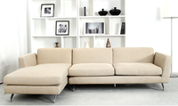 Unique shape legs simple and leisure fabric sofa,L shape fabric sofa with chesterfield