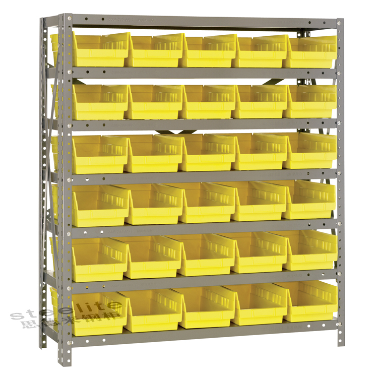 plastics bin shelf storage open shelving system with super drawers