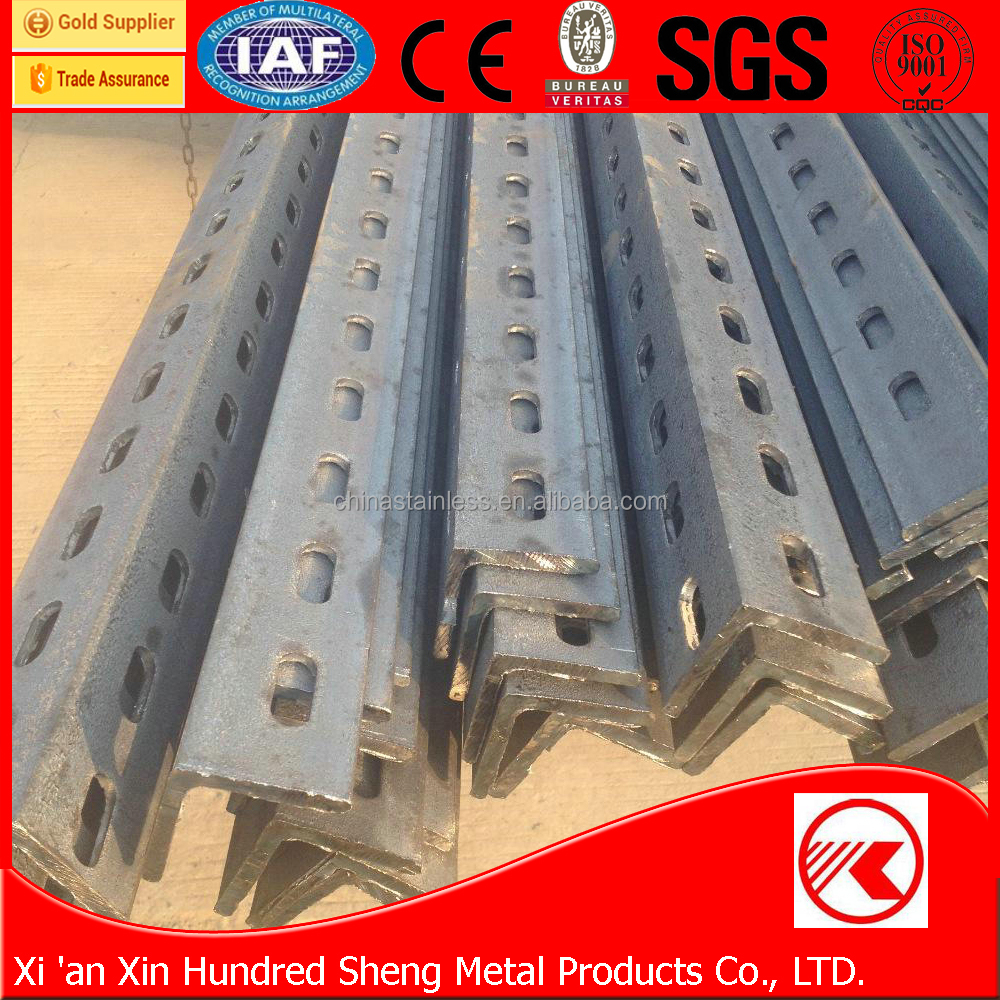 high quality factory price steel angle iron with holes