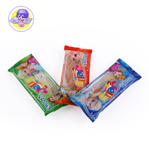 fruit juice funny color rope shape soft gummy sweets with tray