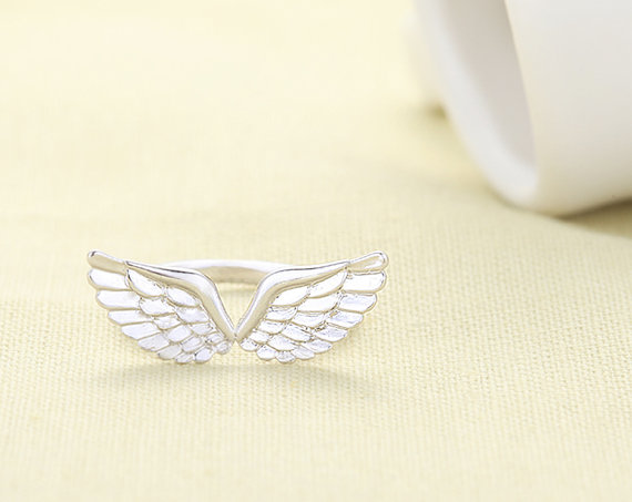 2016 Simple Wing ring Icarus wing unique platinum alloy jewelry wedding rings price for men JZ224