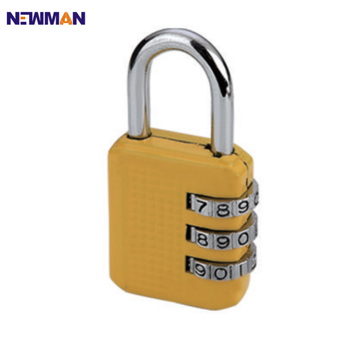 NEWMAN CP8022 High Security Anti Theft Mini Luggage Lock, Travel Combination Padlock