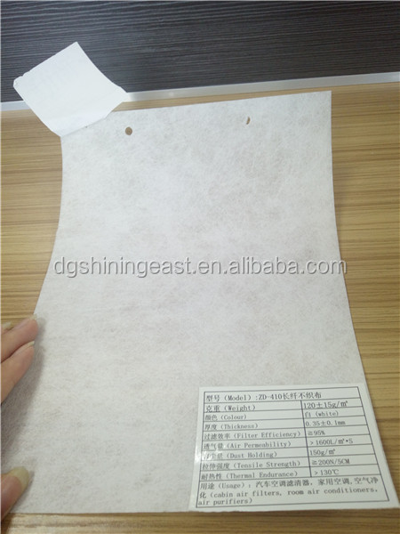 Good uniformity perfect air permeability automotive non-woven particle pollen multi filter media
