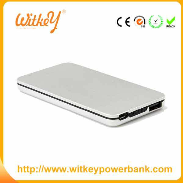 New model fashion metal external power bank 4000mah