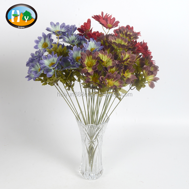 Wholesale cheap silk chrysanthemum flowers bushes for decoration