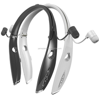 bluetooth 4.0 headset + neckband + wireless + long time battery for both ears