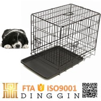 Pet wire mesh dog cage with double doors