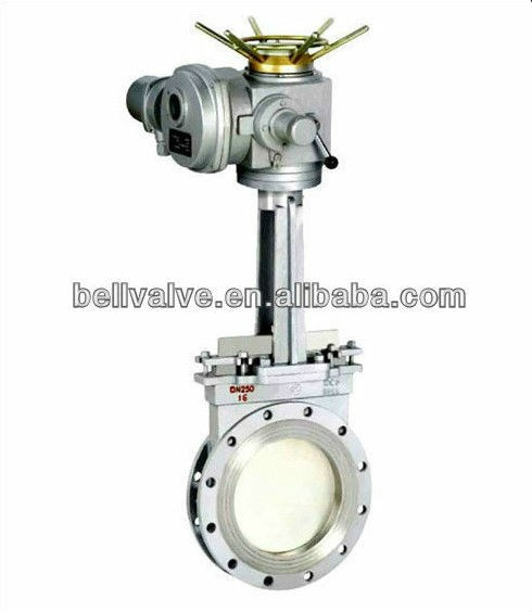 Solenoid Industrial electric actuator control knife gate valve