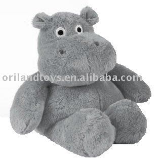 valentine grey plush hippo
