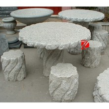 stone granite table and chair set for garden