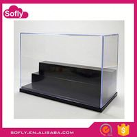 Hot Sale Lucite Dustproof Diecast Lego 25x15x15cm, Clear Acrylic Plastic Display Box Case Protection Toys