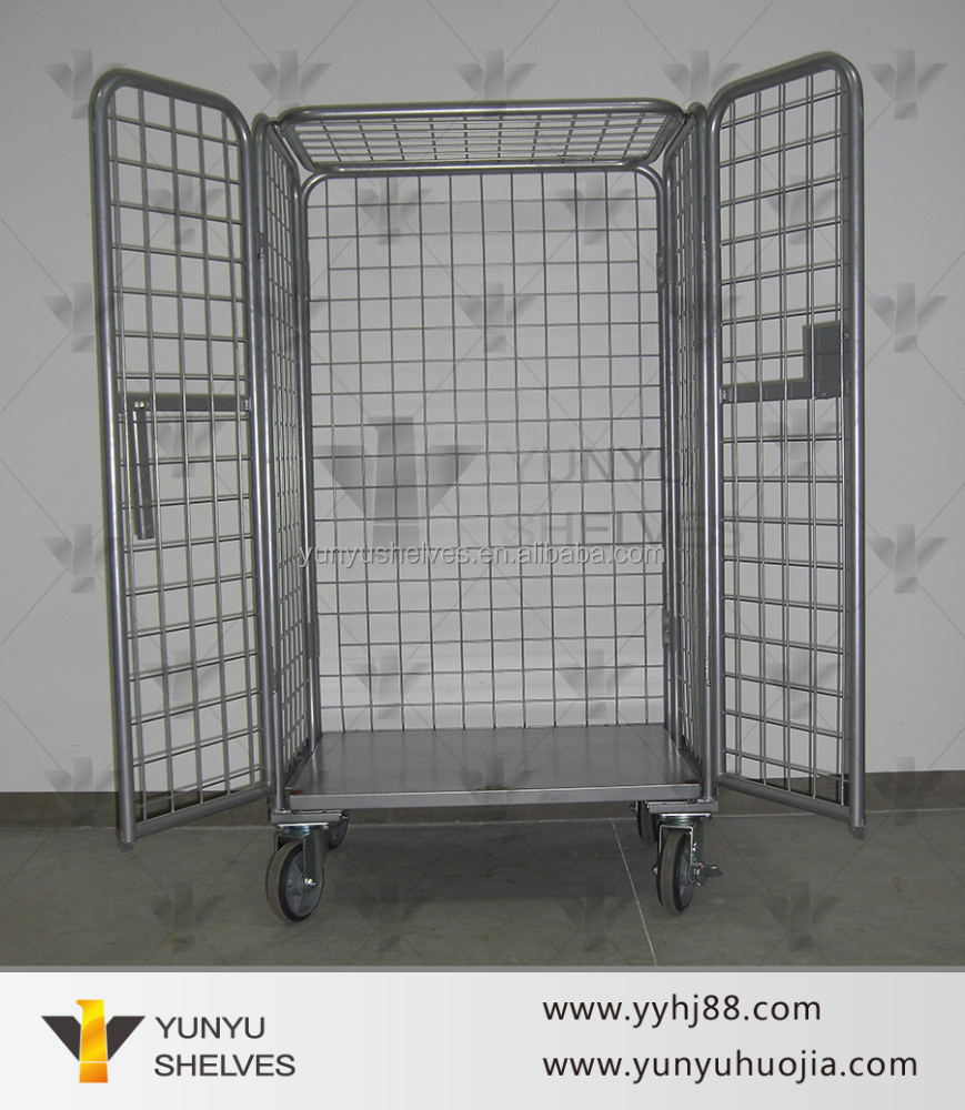 guangzhou lockable storage cage with wheels