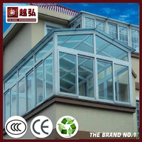 NDR-SR005 aluminum structur polycarbonate sunroom with temped glass windows