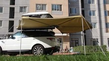 Hard shell Car roof tent /Roof Top Tent with fox wing awning