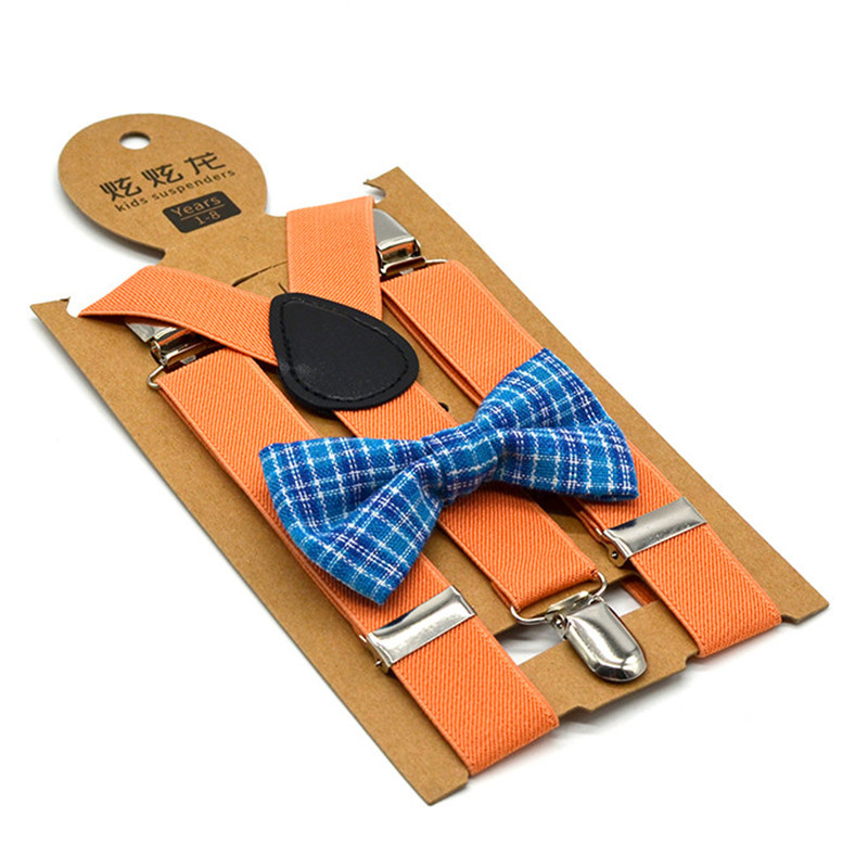 Nice suspenders bow tie sets for kids children wholesale comfortable feeling resistant <strong>belt</strong> 2.5 cm width 65cm length <strong>3</strong> clips