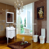 Modern bathroom design Solid Wood ikea vanity Cabinet,wholesale hotel furniture from china
