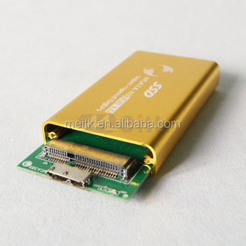 Gold color HDD Aluminum Case USB 3.0 High Speed Hard Disk Enclosure