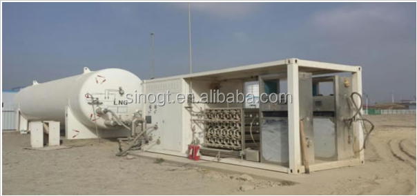 LNG Filling Station which include LNG vacuum tank and LNG storage tank