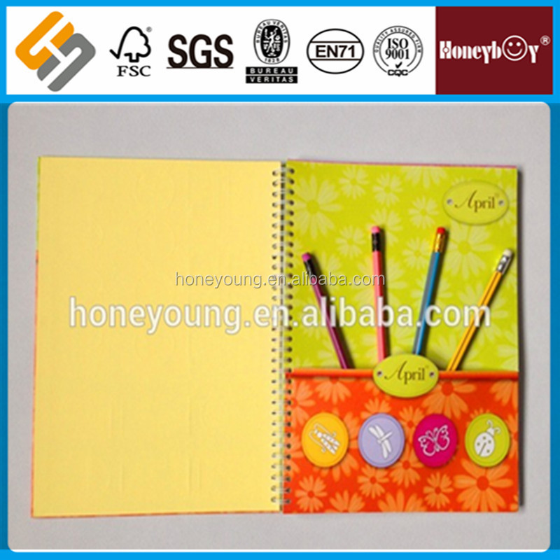 cheap recycled wholesale kids spiral notebook