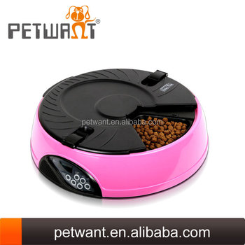 Recordable automatic 6 meal dog feed