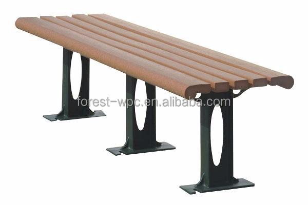 Compuesto de madera curvada al aire libre banco al aire for Banco de paletas al aire libre