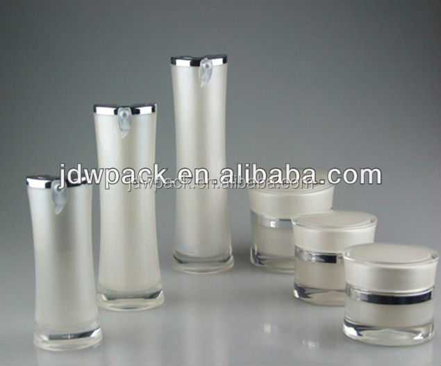 cosmetic container, acrylic lotion bottle and jar set