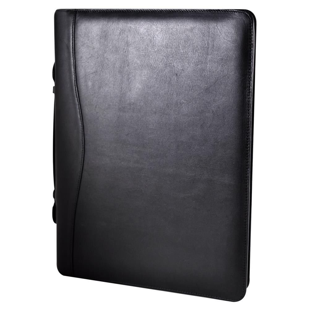 wholesale black pu leather folder / A4 portfolio case folder / expandable file folder