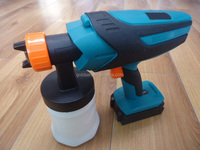 New Cordless 18V Battery Powered Handheld Portable HVLP Painting Sprayer Rechargeable Wireless Wall Spray Paint Machine