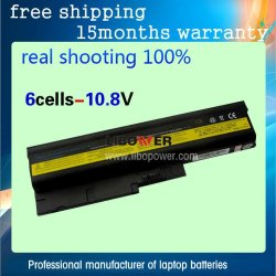 rechargeble laptop Battery 5200mAh for IBM LENOVO T60 T61 R60 R61 ThinkPad R61i ThinkPad T500 Free Shipping