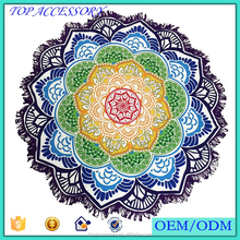 Custome Printed Round Beach Towel Women Scarf and Shawl