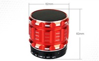 Wholesale Bulk Round Metal Usb Speaker Fm Radio Mini Speaker With Micro-sd / Tf Card