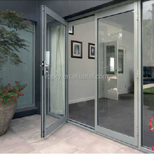 Commercial Double Glass Aluminum Hinged Doors