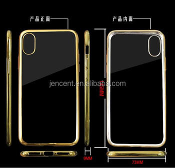 2017 new arrival plating tpu bumper mobile phone case for iphone 8 8 plus case