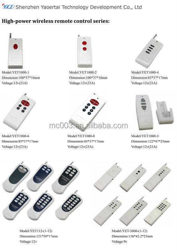 MC wireless remote pc on/off multi frequency