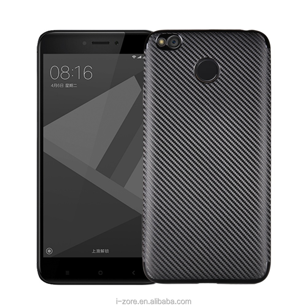 Bulk Buy From China Carbon Fiber Phone Case for Xiaomi Redmi 4 Indian Back Cover