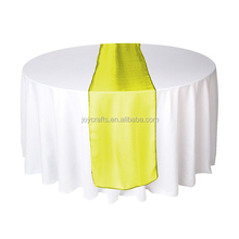 Wedding Table Decoration Yellow Organza Wedding Table Runners