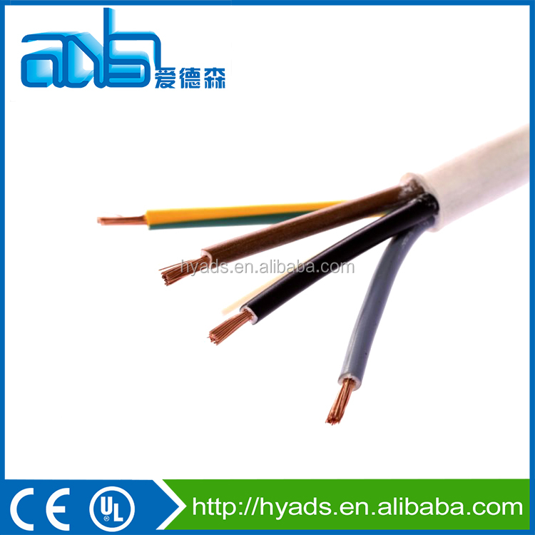 H05VV-F PVC Insulated flexible electric Cable different sizes of good price