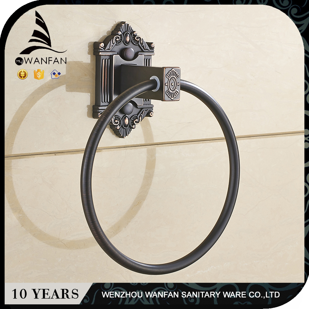 WANFAN black Towel ring Retro Wall mounted oil rubbed bronze Bathroom accessories China Hot selling 71205R