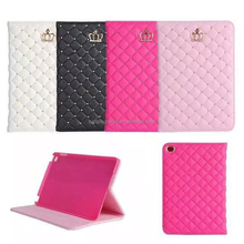 Diamond Sheepskin Leather Tablet Case Stand Cover for iPad Air