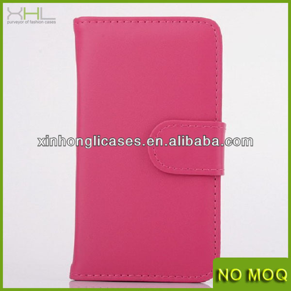 New Arrival wallet leather case for Samsung Galaxy S5 with buckle