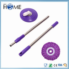 PVC cover top quality custom design colorful metal magic foldable mop stick