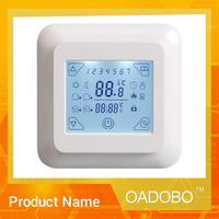 V8 adjustable floor heating symbol electric thermostat for programmable room temperature central control with CE RoHS