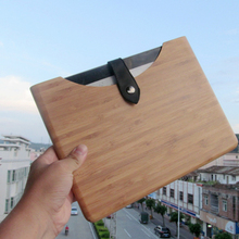 10 inch tablet pc wooden smart case/cover for i pad 2 3 4